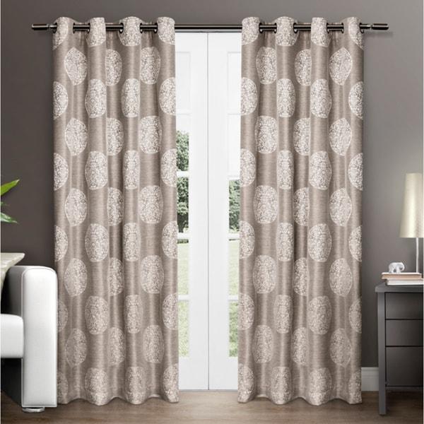 Ati Home Akola Grommet Top Curtain Panel Pair Free