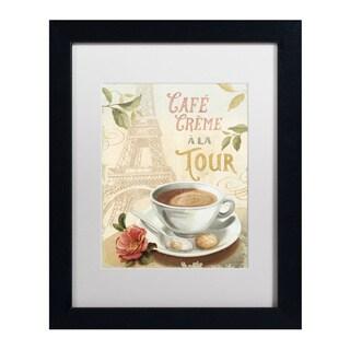 Lisa Audit 'Cafe in Europe II' White Matte, Black Framed Wall Art
