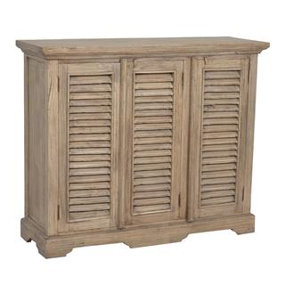 Aspen Antique Brown Shutter Media Console