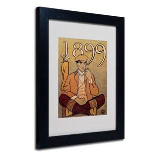 Edward Penfield 'Golf Calendar 1899' White Matte, Black Framed Wall Art