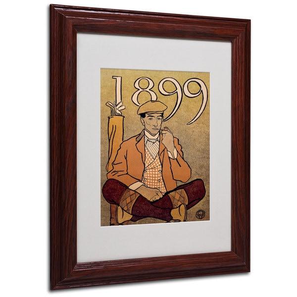 Shop Edward Penfield \'Golf Calendar 1899\' White Matte, Wood Framed ...