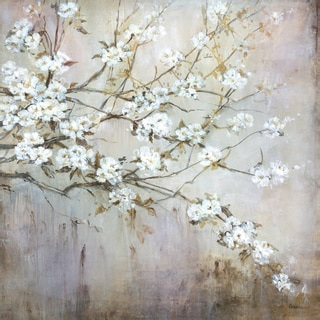 Portfolio Canvas Decor Carson 'White Elegance' 24x24 Framed Canvas Wall Art