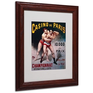 Pal 'International Wrestling Championship' White Matte, Wood Framed Wall Art