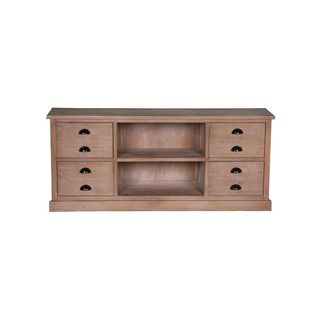 Calhan Traditional Natural TV media Cabinet