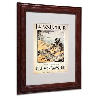 Richard Wagner 'Poster of the Valkyrie' White Matte, Wood Framed Wall Art