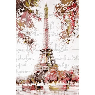 Portfolio Canvas Decor Finchley Paper Arts 'Paris Springtime' 24x36 Framed Canvas Wall Art