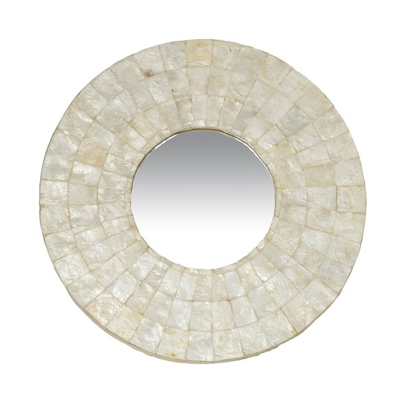 Canby Small Round White Mirror Free Shipping Today