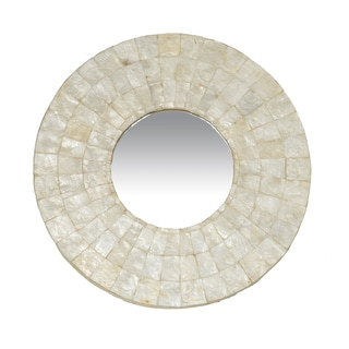 Canby Small Round White Mirror