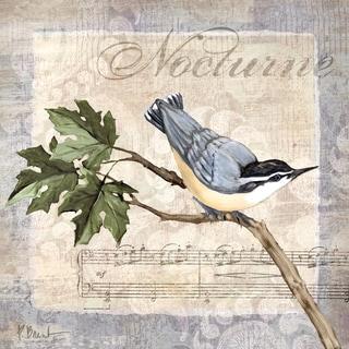 Portfolio Canvas Decor Paul Brent 'Allegro Songbird I' 12x12 Framed Canvas Wall Art (Set of 4)