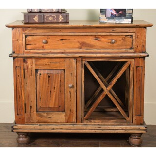 Centennial Vintage EBWD Entryway Cabinet With Door and Wine Rack