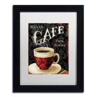 Lisa Audit 'Today's Coffee I' White Matte, Black Framed Wall Art