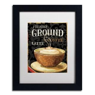 Lisa Audit 'Today's Coffee II' White Matte, Black Framed Wall Art