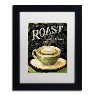 Lisa Audit 'Today's Coffee III' White Matte, Black Framed Wall Art