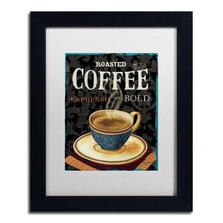 Lisa Audit 'Today's Coffee IV' White Matte, Black Framed Wall Art