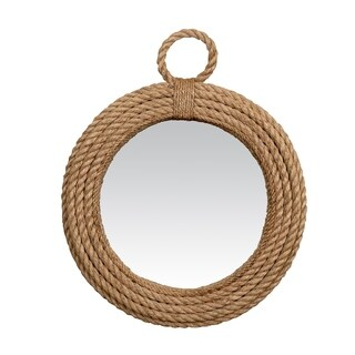 Dalles Small Round Jute Rope Mirror