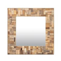 East At Main's Decorative Square Sutherlin Accent Mirror - Brown