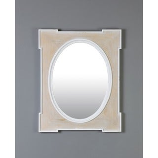 Decorative White Square Medford Mirror