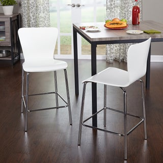 Simple Living 24-inch Pisa Stool (Set of 2) (Option: White - Painted)