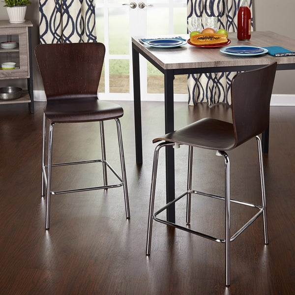 Simple Living 24 Inch Pisa Stool Set Of 2 Free
