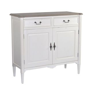 Denver Antique White Cabinet W Drawers