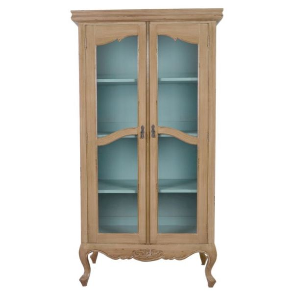 Shop Eads Antique Antique White Display Cabinet With Glass Doors