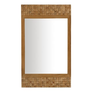 Grove Rectangular Mirror - Brown