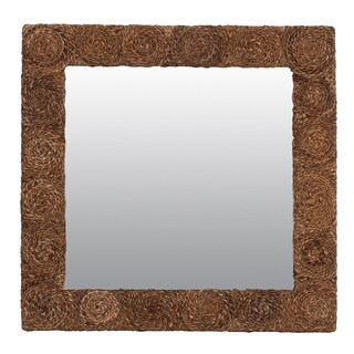 East At Main's Hillsboro Large Square Mirror - Brown