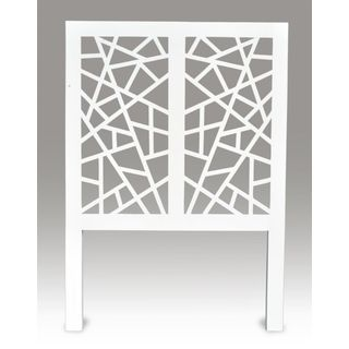 Hooper White Modern Birdnest Twin Headboard
