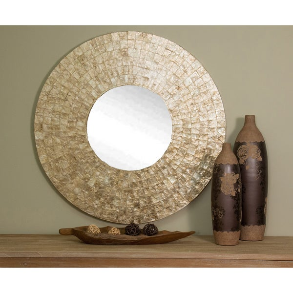 Keizer large round gold mirror free shipping today for Large round gold mirror