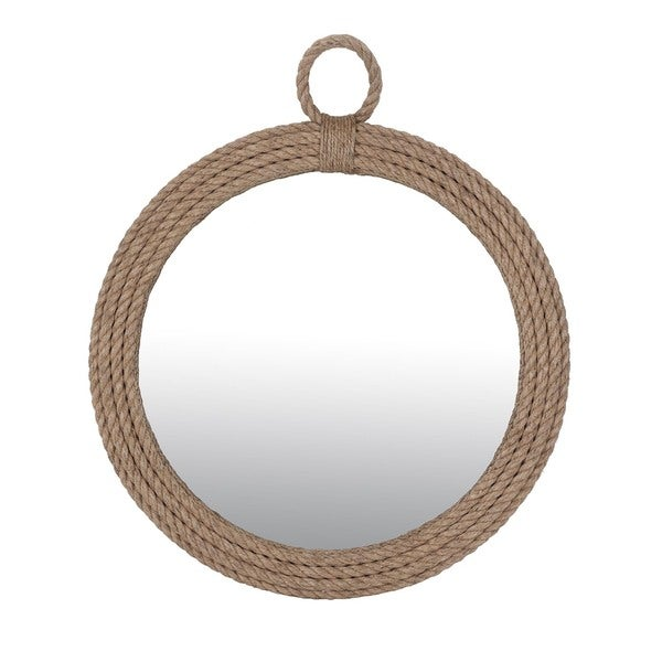 East At Main's Lebanon Large Oval Mirror-Large - Brown