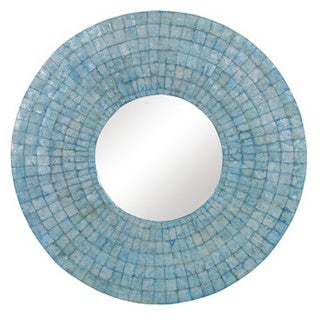 Milwaukie Large Round Turquoise Mirror