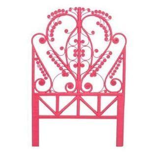 Minturn Pink Rustic Peacock Twin Headboard