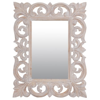 "Myrtle 31"" White Rectangular Accent Mirror"