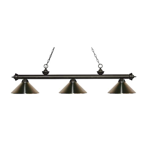 Avery Home Lighting Riviera Golden Bronze 3-light Island/Billiard Brushed Nickel-finished Light