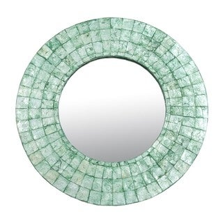 Oswego Medium Emerald Green Round Mirror