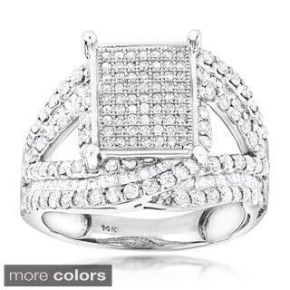 Luxurman 14k Gold 3ct TDW Diamond Engagement Ring (G-H, SI1-SI2)