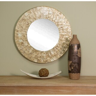 Pass Medium Round Gold Mirror