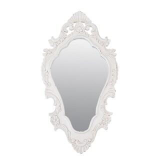 Phoenix 30-inch Vintage White Oval Accent Mirror