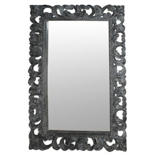 Sheridan Black Wash Wooden Accent Mirror