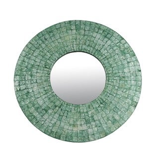 Tigard Large Emerald Green Round Mirror