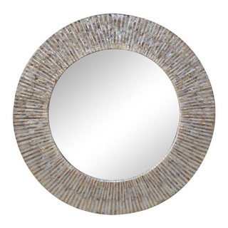 Tillamook White Round Accent Mirror