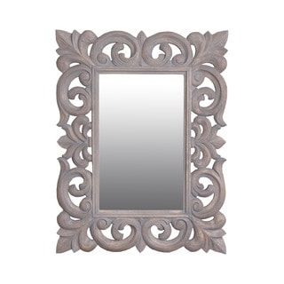 Toledo 31-inch Grey Rectangular Vintage Accent Mirror