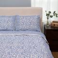 Indigo Blue Chain Pattern King-sized Duvet Set (India)