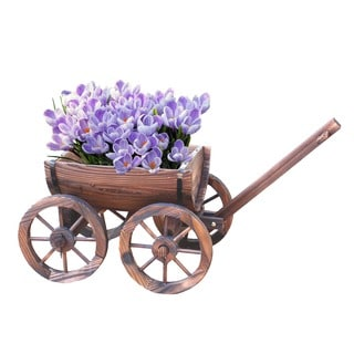 Half Barrel Wagon Planter