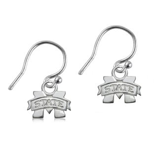 Mississippi State Sterling Silver Dangle Earrings