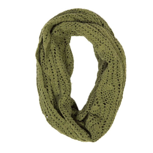 9747afe6434a3 Shop Handmade Lucia Fern Green Crochet Infinity Scarf (India) - On Sale -  Free Shipping On Orders Over $45 - Overstock - 10452586