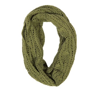 Lucia Fern Green Crochet Infinity Scarf (India)