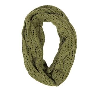 Handmade Lucia Fern Green Crochet Infinity Scarf (India)
