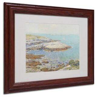 Childe Hassam 'Isles of Shoals 1899' White Matte, Wood Framed Wall Art