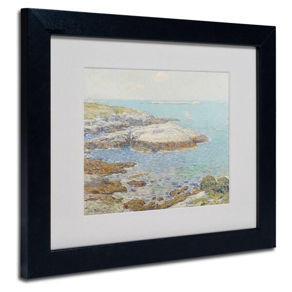 Childe Hassam 'Isles of Shoals 1899' White Matte, Black Framed Wall Art